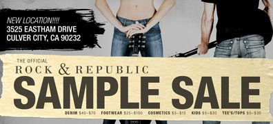 Bargain Alert!! Rock & Republic Sample Sale- Up to