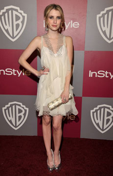 Emma Roberts Smokes the Globes After-Party with Bavna Jewelry