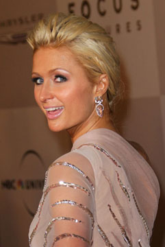 Paris Hilton Glows with Brumani Earrings at Golden Globes After-Party!