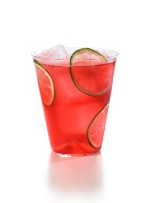 red with lime slices