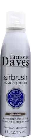 famou dave air brush self tanner