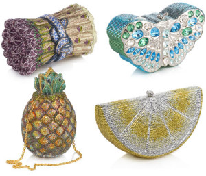 Crystal minaudières and exotic skinned bags
