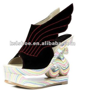 2012 new peep toe woman wedge shoes