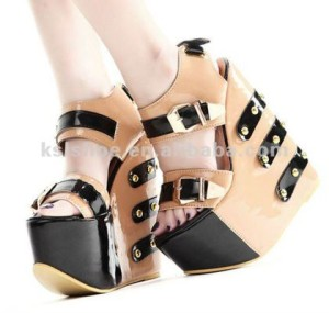 hot selling cheap wedge shoes women 2012 fashion high heel sandal