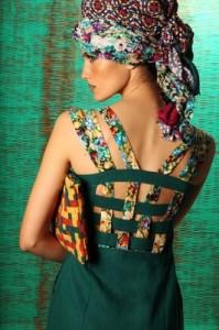 Amani K Woven Back Dress & Woven Pouch