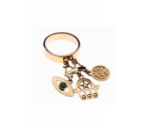 Azza Fahmy Rumuz Charms Gold Ring