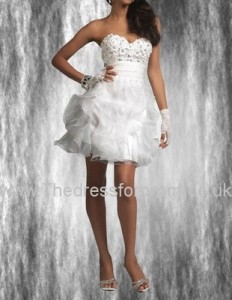 Enchanting A-line Sweetheart Organza Prom Dress