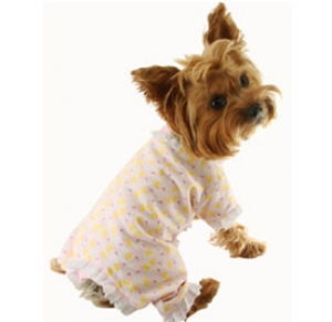 Dog Pajama Tiny Cupcakes With Cherry on Top Flannel