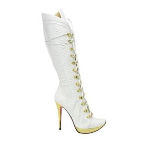 Dogana pyth lace up boots