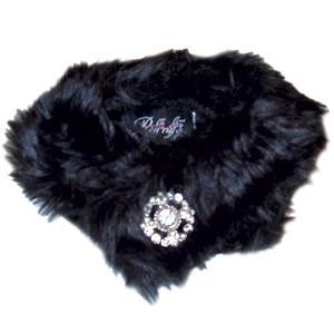 Faux Black Mink Stole