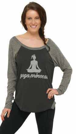 Yoga-Princess-baseball-tee