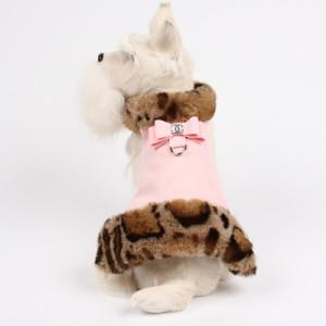 Pink Angora Leopard Fur Coat