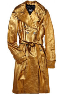 Dolce & Gabbana Metallic Leather Trench
