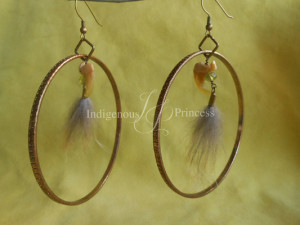 Claw, Crystal, Fur Hoop Earrings