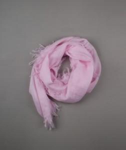Flamingo pink dupatta with ruching detail.