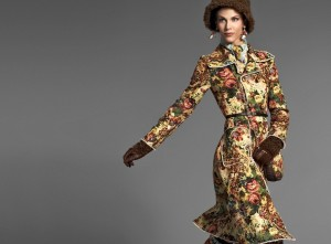 Floral Tapestry Coat Fashion - Dolce & Gabbana