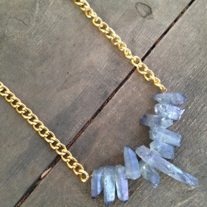 blue quartz thick chain