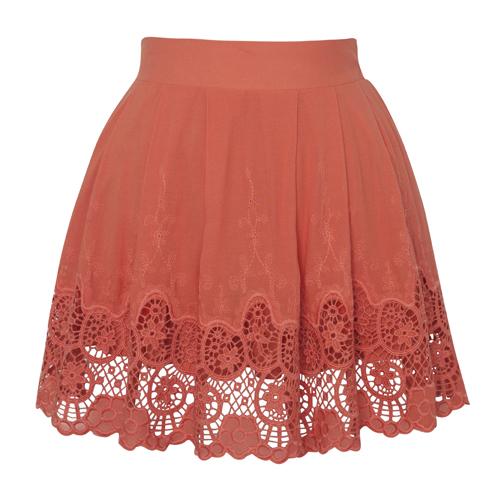 coral-lace-hem-skirt