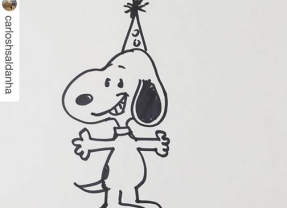 Celebrate SNOOPY's Birthday on 8/10  by Learning to DRAW Everyone's Favorite Cartoon Dog! #DrawSnoopy
