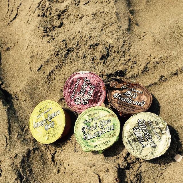 pkgs on sand