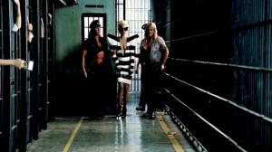 Gaga modeling prison couture