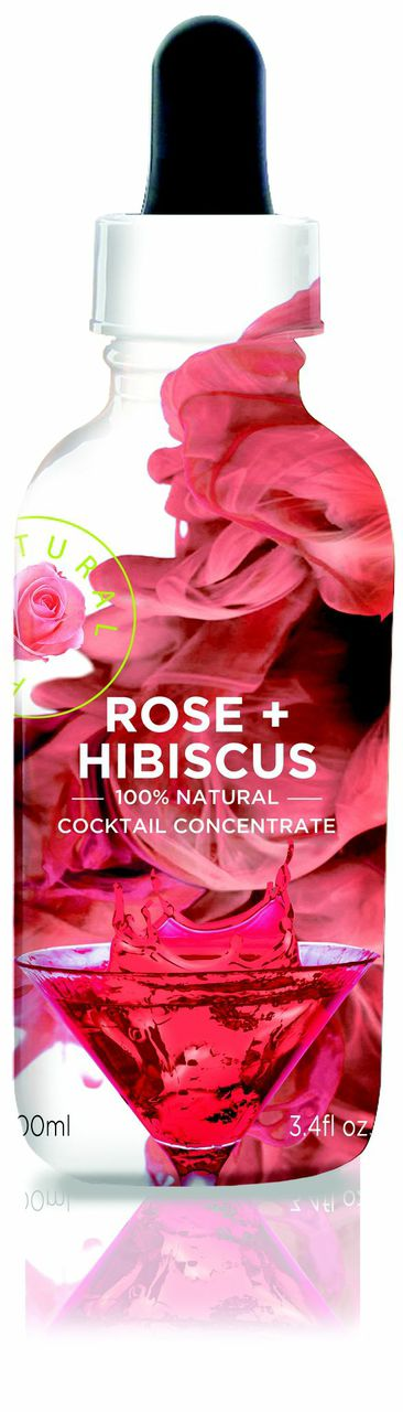 rose hibiscus bottle