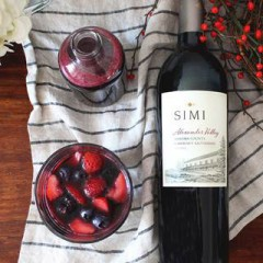 """Have a """" Cab-Berry Good"""" Valentine's Day with Simi Alexander Valley Cabernet! #recipe"""