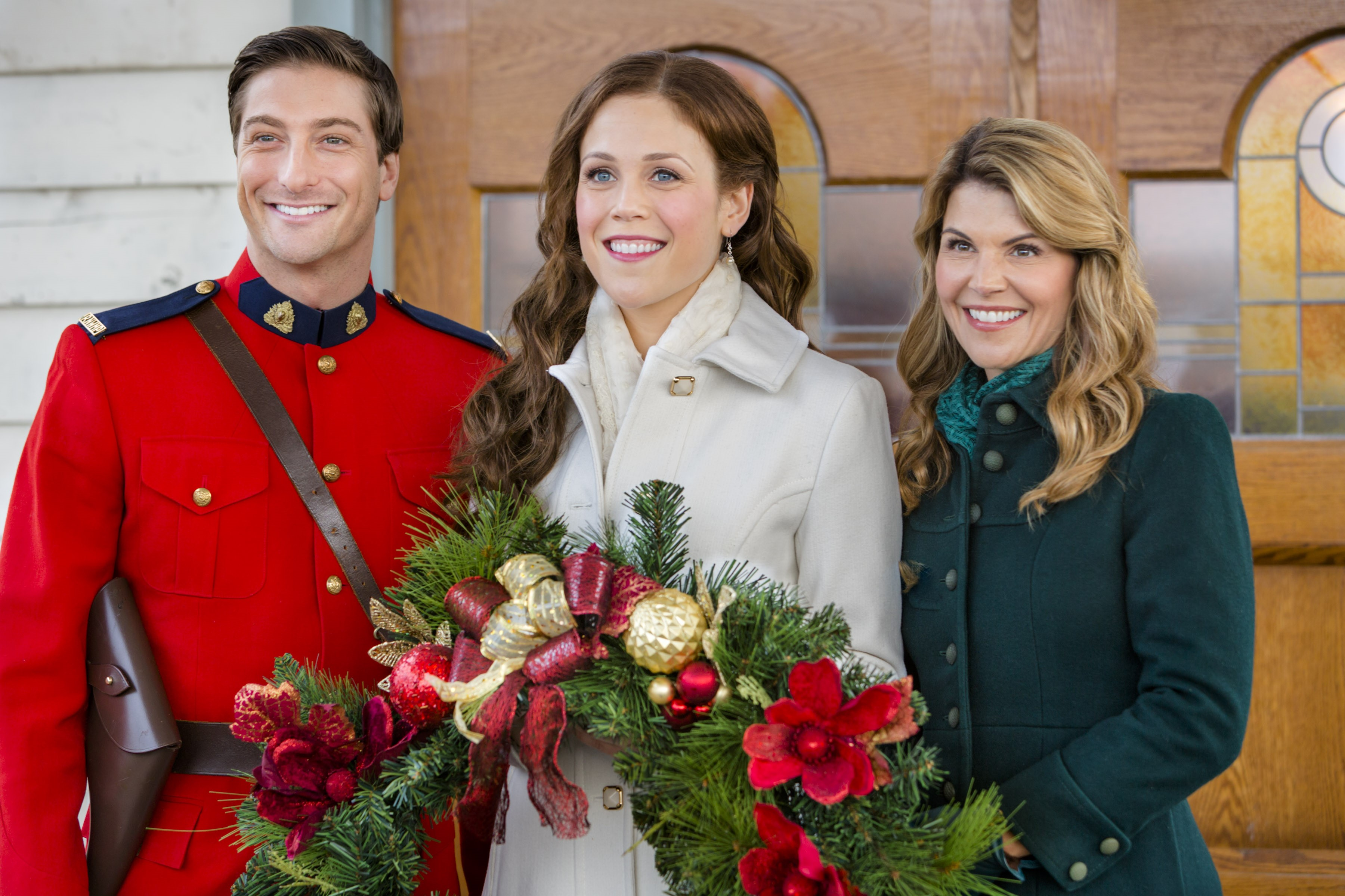 Jack, Elizabeth, Abigail...When Calls the Heart - Photo: Daniel Lissing, Erin Krakow, Lori Loughlin Credit: Copyright 2016 Crown Media United States, LLC/Photographer: Eike Schroter
