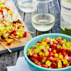 Get Ready for Labor Day with a FAB Mango Salsa  Made with Woodbridge Sauvignon Blanc!