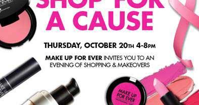 MakeUpForEver Hosts a Class &  Shopping Events 10/19 + 10/20!