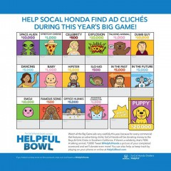 Play the Helpful Honda Bowl with the Super Bowl Commercials. Giving Back Was Never So Easy!