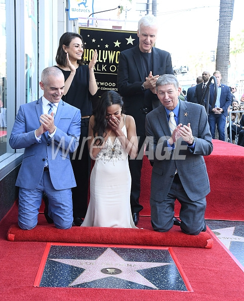 Zoe Saldana Honored With A Star On The Hollywood Walk Of Fame on May 3, 2018 in Hollywood, California.