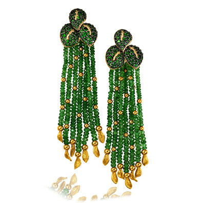 sunflower-leaf-tassel-earri