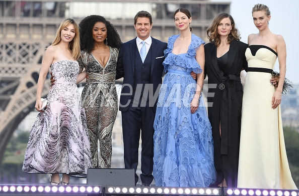 [NAME] attends the Global Premiere of 'Mission: Impossible - Fallout' at Palais de Chaillot on July 12, 2018 in Paris, France.