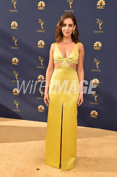 LOS ANGELES, CA - SEPTEMBER 17: Alison Brie attends the 70th Emmy Awards at Microsoft Theater on September 17, 2018 in Los Angeles, California. (Photo by Jeff Kravitz/FilmMagic)