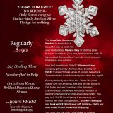 "Dazzle ""Her"" with this Gorgeous Snowflake Pendant for FREE!!!! Plus BONUS!"