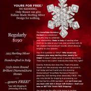 "Dazzle ""Her"" with this Gorgeous Snowflake Pendant for FREE!!!! Plus BONUS!"
