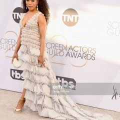 Angela Bassett Smokes the SAG Awards Red Carpet in Georges Chakra + Kimberly McDonald!
