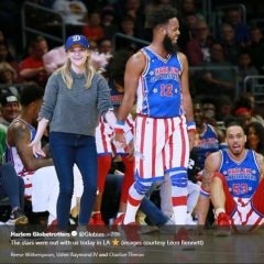 The Harlem Globetrotters  and Reese Witherspoon Dance Up a Storm at Sunday's Game!