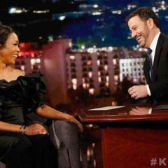 Actress Angela Bassett Rocks Ingie of Paris while  on Jimmy Kimmel LIVE!