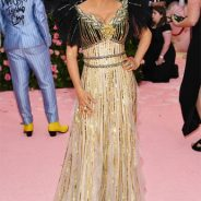 Salma Hayek at Met Gala 2019: Hair by Celeb Stylist David von Cannon + Celeb MUA Mathew VanLeeuwen!