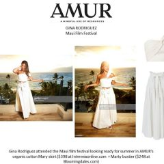 Actress Gina Rodriguez  Rocks Amur  +  Chinese Laundry at the Maui Film Festival!