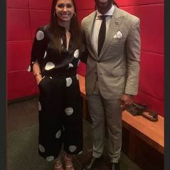 US Soccer Champ Alex Morgan Wears  Gorgeous Outfit including Ruthie Davis  Heels!