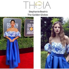 Showing Off Golden Globes Style:  Stephanie Beatriz + Frances Turner Rock THEIA!