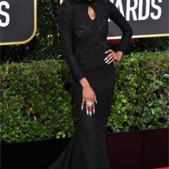 Lala Milan Works the Golden Globes Red Carpet in a Gorgeous Outfit and Accessories!