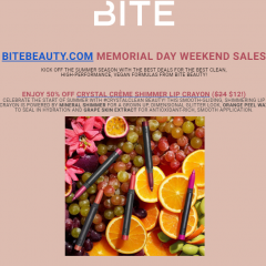 Shop Fab Memorial Weekend Sales on Bite Beauty + Honest Beauty/Company Products!