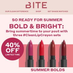 Go BOLD! Bite Beauty's Clean Lip Crayon Sets- 40% OFF! Ends 7/2!!!