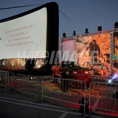 """Charlize Theron, Nicholas Hoult Show Up for """"Mad Max: Fury Road"""" for Drive-In Show at The Grove/LA!"""