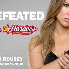 Ronda Rousey Helps Carl's Jr Launch a New Breakfast Sammie – Cinnamon Swirl French Toast Sandwich.