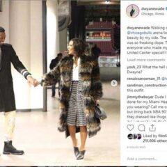 Gabrielle Union Celebrates Husband's Final Game in Chicago Wearing Perdifiato!